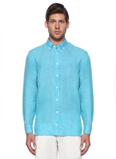 %100 Keten Uzun Kollu Gömlek-Beymen Collection